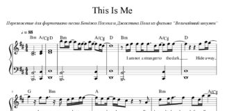 «This Is Me»: ноты для фортепиано
