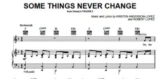 Frozen 2. «Some Things Never Change»: ноты для фортепиано