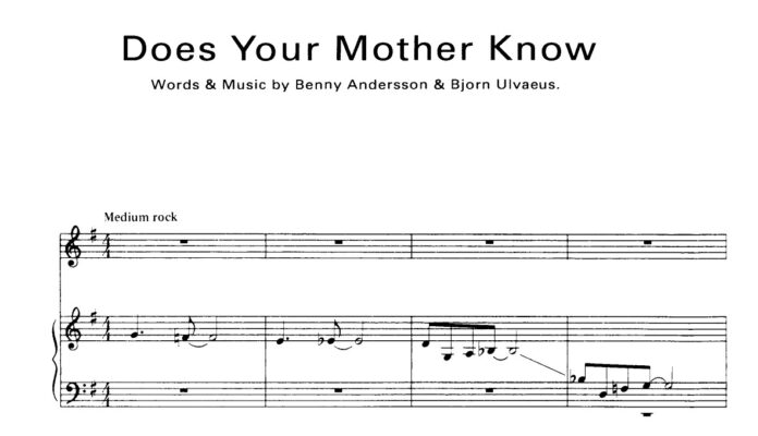 ABBA. «Does Your Mother Know»: ноты для фортепиано