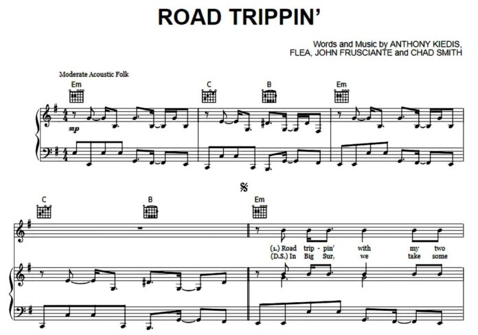 Red Hot Chili Peppers. «Road Trippin'»: ноты для фортепиано