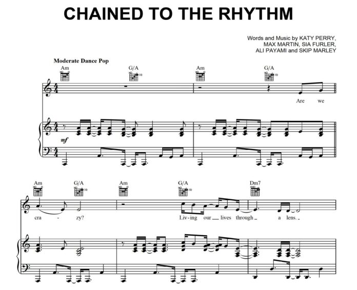 Katy Perry. «Chained To The Rhythm»: ноты для фортепиано