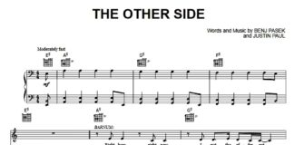 «The Other Side»: ноты для фортепиано